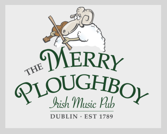 The Merry Ploughboy Pub Irish Music Pub Dublin, Logo